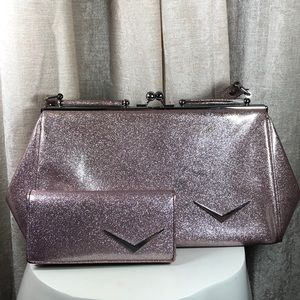Lux de Ville Pink Sparkle Getaway Bag & Wallet